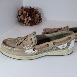 Sperry Top-sider Tan Leather Slide-On Shoe 7